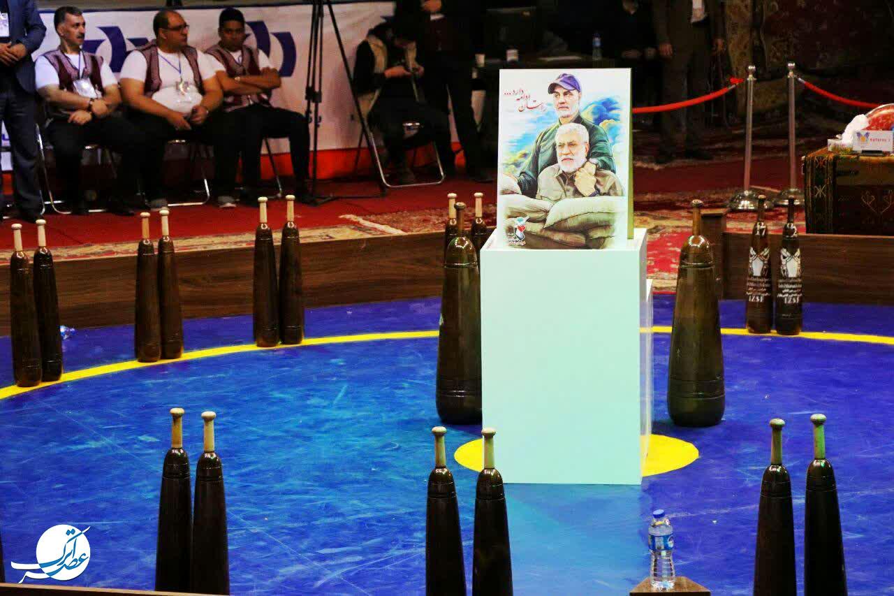 سومین دور از مسابقات جهانی ورزش های زورخانه ای و کشتی پهلوانی در بجنورد